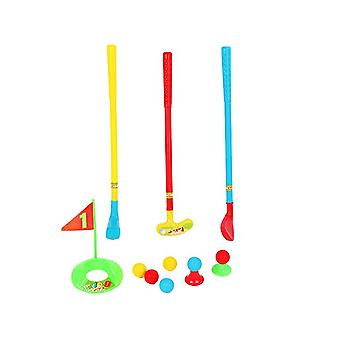 Kids Golf Club Set Golf Cart With Wheels,practice Holes Fun Young Golfer Sports