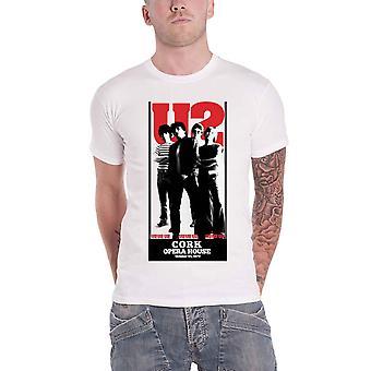 U2 T Shirt The Cork Opera House Band Logo new Official Mens White