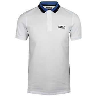 Barbour international men's white ampere polo shirt