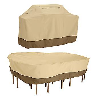 Accessori classici Veranda Grande copertura griglia e grande tavolo patio e set di sedie pacchetto di copertura - Copertina esterna (55-924-041503-00)