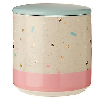 Medium Glitter Terrazzo Canister, Pink