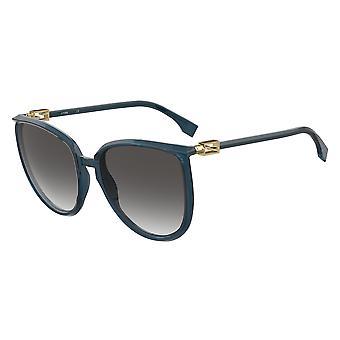 Fendi FF0432/G/S PJP/9O Blue/Dark Grey Gradient Sunglasses