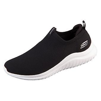 Skechers Ultra Flex 20 Kwasi 232047BKW sapatos universais durante todo o ano
