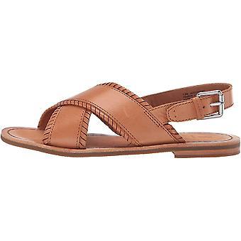 Frye Women's Shoes Robin FTHR Crisscross Leather Open Toe Casual Slingback Sandals