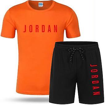 Casual Running Wear Summer Short-sleeved Shorts 2-piece ( Set 2)