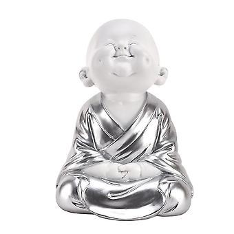 Hestia White & Silver Buddha - Hands On Knees