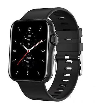 Смарт-часы для унисекс с кнопкой кодировщика, Bluetooth-вызовом, монитором физической активности для Android IOS-black