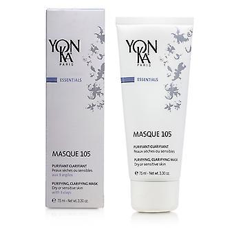 Yonka Essentials Masque 105 - Purifying Clarifying Mask (Dry Or Sensitive Skin) 75ml/3.3oz