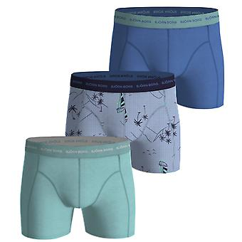 Bjorn Borg Men's Boxer Shorts 3 Pack ~ Sailaway ultramarine