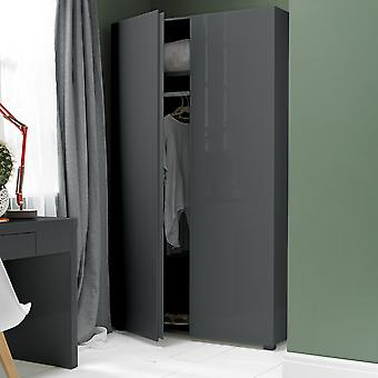 Manny Bedroom Wardrobe - Charcoal