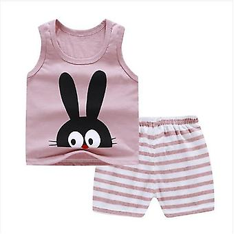 Girl Summer Clothes, Top+shorts Suit Set