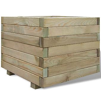Raised Bed 50x50x40 Cm Wood Square