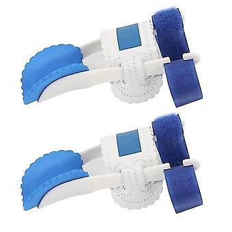 2Stücke hallux valgus gerader Fuß Daumen orthotischen Zehenabscheider weiß blau