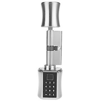 Smart Cylinder Lock Intelligent Biometric Türschloss Fingerabdruck Scanner Keyless Elektronische Fingerabdruck Passwort Digital Lock Code Anti-Diebstahl Sicherheitstür elektrische Sause