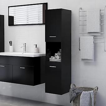 vidaXL bathroom cabinet Black 30x30x130 cm chipboard