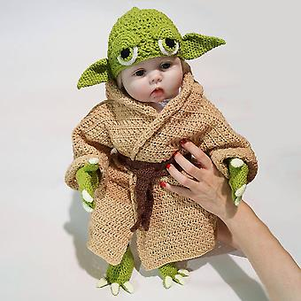 Set Master Yoda Baby Hundred Days Baby Photography Props Hand Knitted Five Pieces