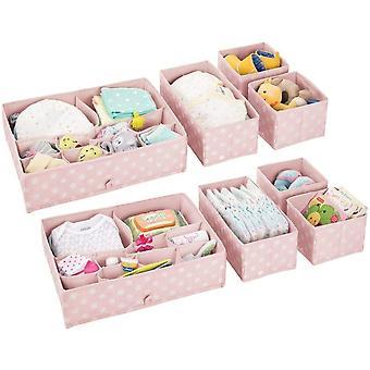 FengChun 8er-Set Aufbewahrungsboxen Kunststoff  Schubladenboxen mit verschiedenen Fchern