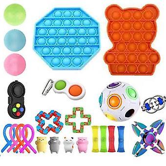 24pcs Pack Fidget Toys Sensory Toy Set Antistress Relief Fidget Toys