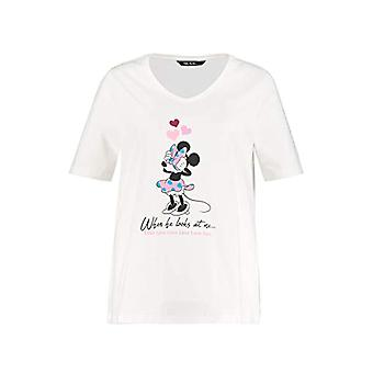 ULLA POPKEN Gro and Gro en Shirt mit Minnie Mouse Herz, Classic T, White (White 72726320), 50-52 Women