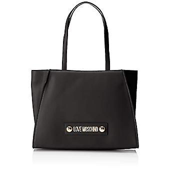 Love Moschino Soft Grain Pu Bag, Woman's Hand, Black (Black), 12x27x37 cm (W x H x L)