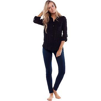 Rhythm Dahlia Long Sleeve Shirt in Black