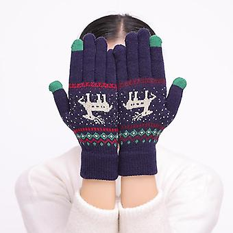 Симпатичные перчатки женщин, Полный палец Зимние перчатки