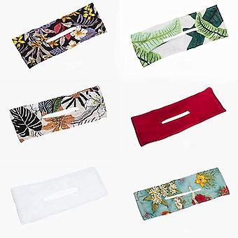 deft bun for hår 6 farger mote hårbånd kvinner sommer knutet wire pannebånd (6 stk)