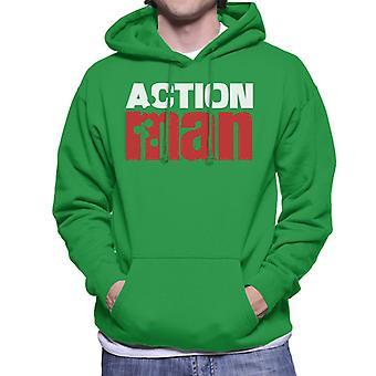 Action Man Red Logo Men's Hooded Sweatshirt