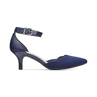 Anne Klein Womens Findaway Fabric Pointed Toe Ankle Strap D-orsay Pumps