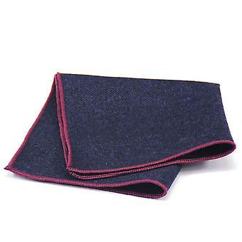 Musta & sininen violetti leikata Tweed näyttää villaa tasku neliö