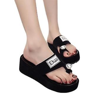 New Chunky Sandals With High Heels Go With Beach Shoes