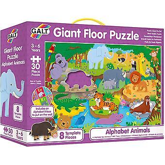 Puzzle del pavimento gigante degli animali dell'alfabeto