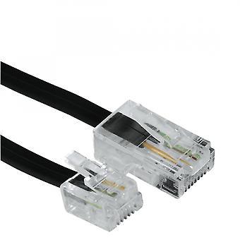 Hama DSL Bağlantı Kablosu 8p4c Modüler Fiş - 6p4c Modüler Fiş 3m