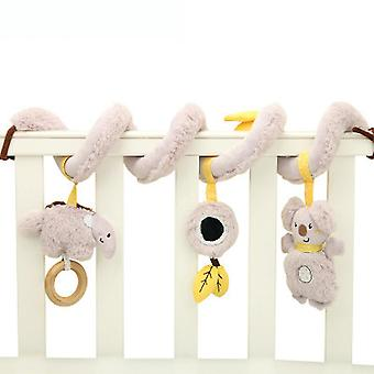 Cartoon Kaola Elephant Baby Spiral Toy Stroller Hanging Toy With Sound Paper Mirror Sound Ball Teether Music Box Plush Activity Sipral