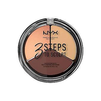 NYX Professional Maquillage 3 façons de sculpter la palette de visage