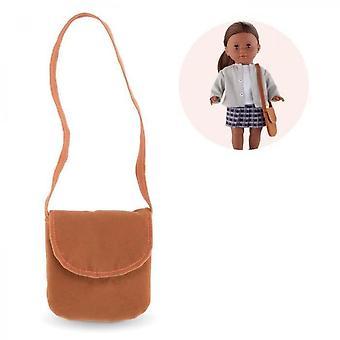 Corolle - Ma Corolle - Bolso de hombro marrón para mi muñeca Corolle