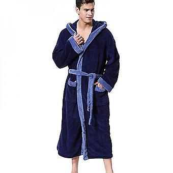 Herren Warm Fleece Lange Nacht Robe