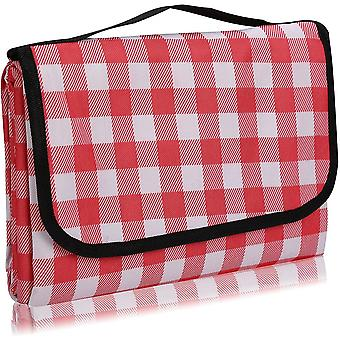 Outdoor Picnic Blanket,foldable Outdoor Beach Blanket,waterproof,sand Proof,machine Washable,slip Resistant With With Carrying Handle For Family,beach