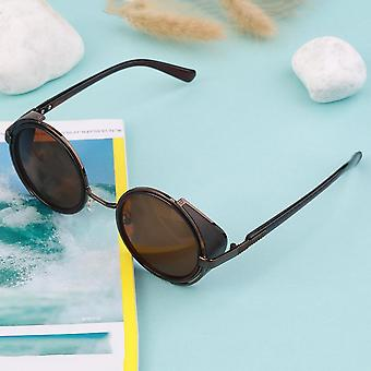 Steampunk Sunglasses Round Glasses Cyber Goggles Vintage Retro Style Blinder