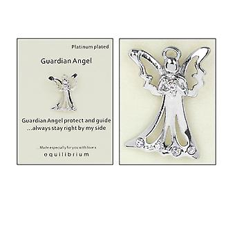 Platinum Plated Guardian Angel Pin Badge - By My Side - Cracker Filler Gift