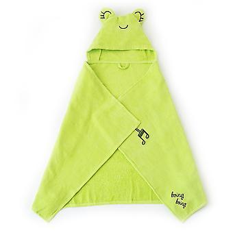 Milk&Moo Cacha Frog Vauvan kylpypyyhe, 100% puuvillainen vauvan hupullinen pyyhe, erittäin pehmeä ja imukykyinen vauvapyyhe vastasyntyneille, vauvoille ja pikkulapsille, yksi koko, vihreä väri
