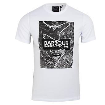 Barbour international men's white snakepass t-shirt