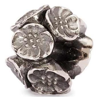 Trollbeads hopeahelmien kukat tagbe-40012