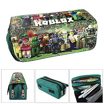 ROBLOX Doppelschicht-Federmäppchen für Kinder mit großer Kapazität (Farbe-3)