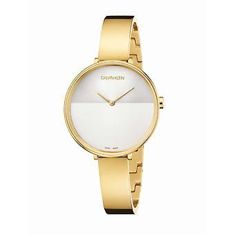 Reloj de mujer Calvin Klein Relojes RISE PO LY PVD1N ADJ 1N B-GLE SIL DIAL - K7A23546 Correa de acero
