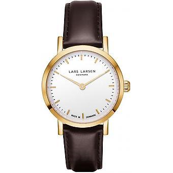 LLarsen (Lars Larsen Brown Genuine Leather) WH124GW-BLLG14 Women's Watch