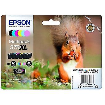 Toner inkjet cartridges c13t37984020 378xl ink cartridge multi pack  11 2ml 3x9 3ml 2x10 3ml  pack qty 6