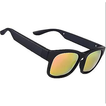 Smart Bluetooth 5.0 Stereo Headset Outdoor Wasserdichte Sonnenbrille Lautsprecher (Gelb)