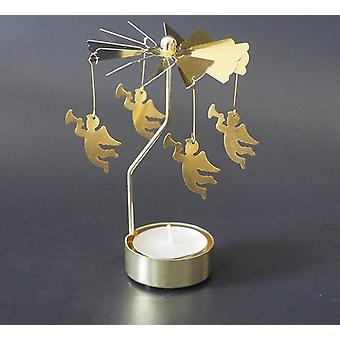 Nordic style christmas rotary tea light candle holder
