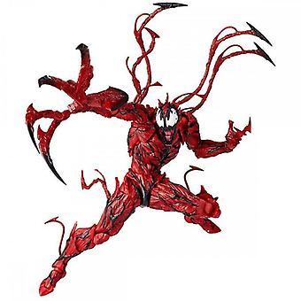Anime Hand-me-down Black Venom Doll Model Toys Assembled Style Model (16cm)
